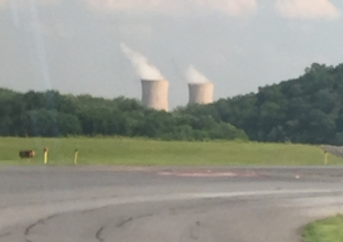 On arrival at Harrisburg, look for the famous 3MI cooling towers!