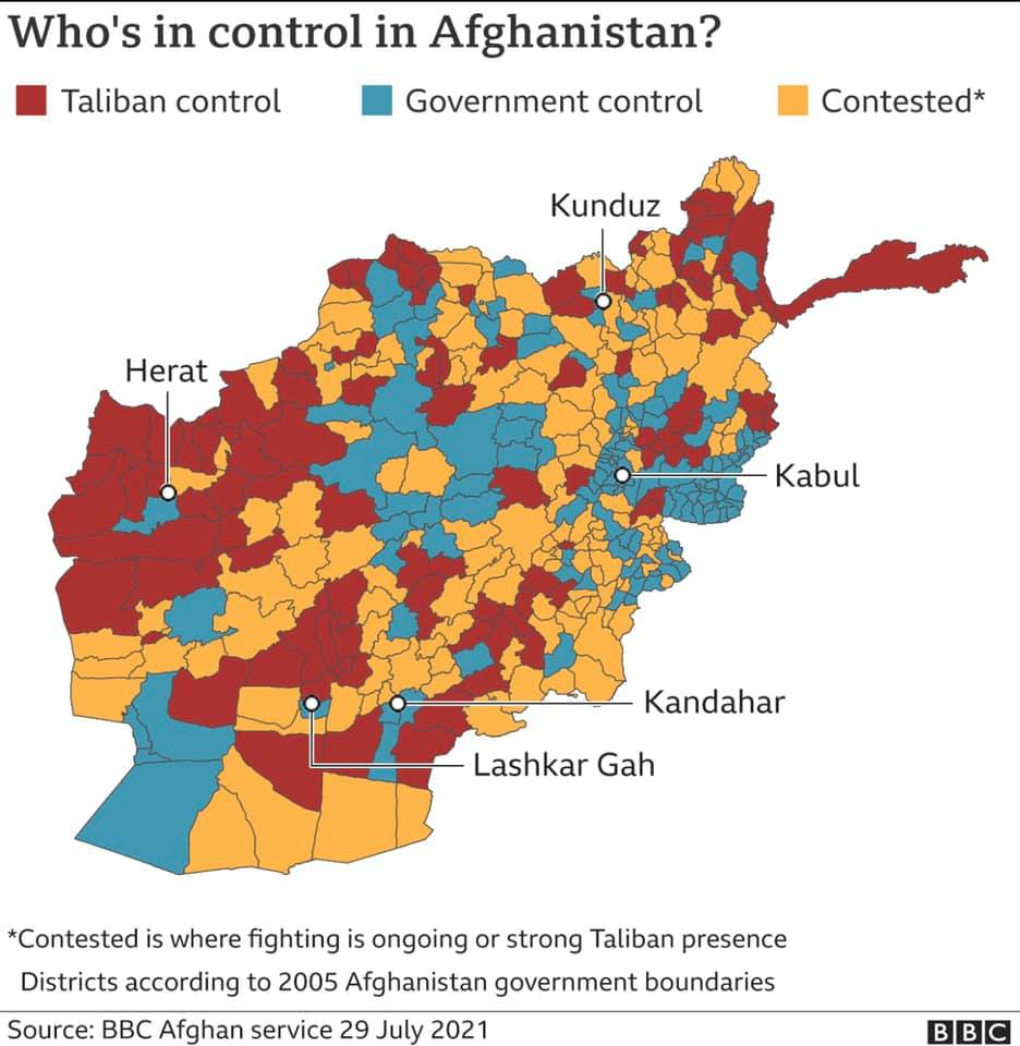 Afghan districts 29 july 21
